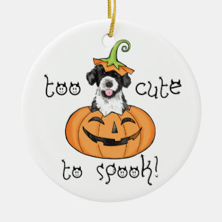 Halloween PWD Double-Sided Ceramic Round Christmas Ornament