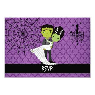 """Halloween que casa a la novia de RSVP de Invitación 3.5"""" X 5"""""""