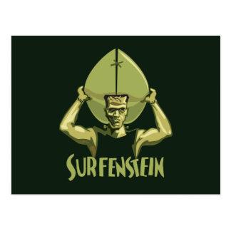 Halloween que practica surf Frankenstein Postal