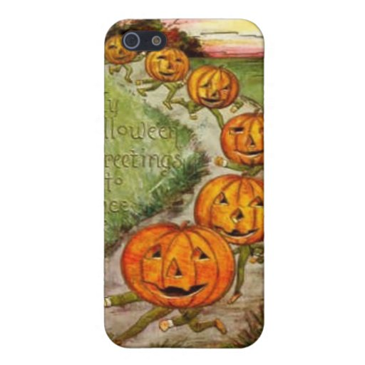 Halloween que saluda a Thee iPhone 5 Protectores