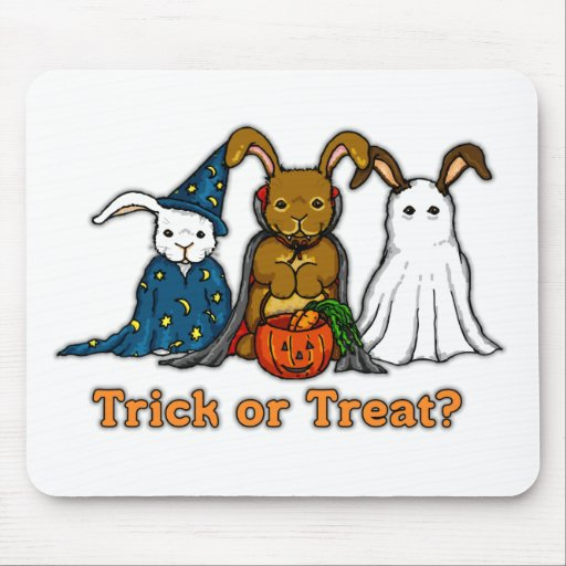 Halloween Rabbits Trick or Treating Mouse Pad