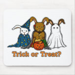 Halloween Rabbits Trick or Treating Mousepad