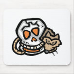 halloween rat and skull mouse mats