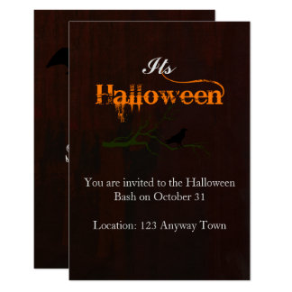 Halloween Raven Branch Card