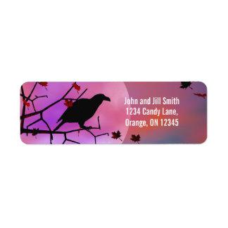 Halloween Raven Night Label