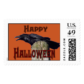 Halloween Raven Postage