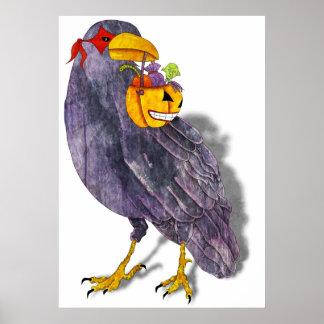 Halloween Raven Poster