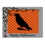 Halloween Raven Silhouette Postcard