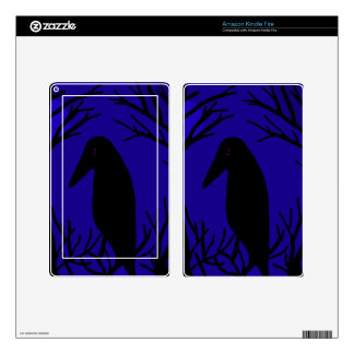 Halloween raven skin for kindle fire