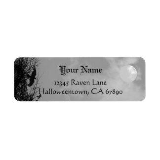 Halloween Raven Sky Custom Return Address Label