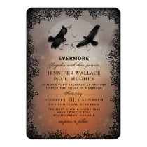 Halloween Ravens and Hearts CUSTOM EDITABLE Card