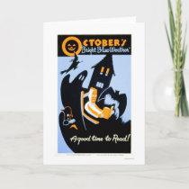 Halloween Reading 1937 WPA Card