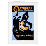 Halloween Reading 1937 WPA Cards