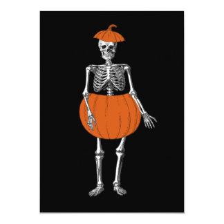 Halloween Ready Skeleton 5x7 Paper Invitation Card