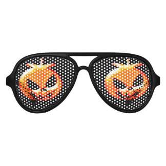 Halloween Really Scary Pumpkin Aviator Sunglasses