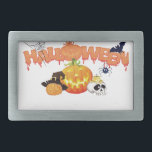 "Halloween Rectangular Belt Buckle<br><div class=""desc"">Belt Buckle</div>"