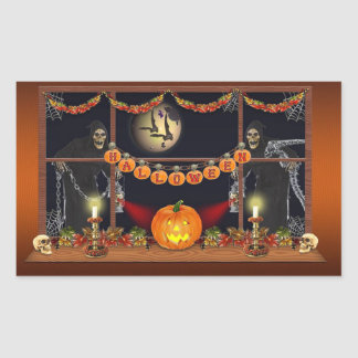 Halloween Rectangular Sticker