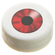 Halloween Red Eyeball Chocolate Covered Oreo
