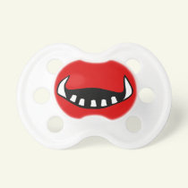 Halloween Red Monster Mouth Baby Pacifier