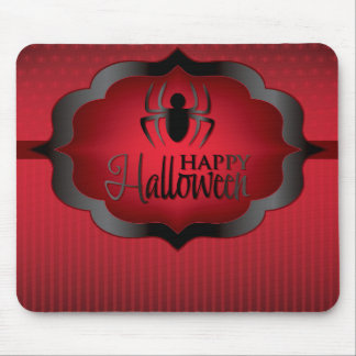 Halloween red spider mouse pad