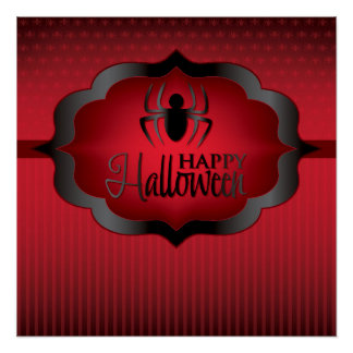 Halloween red spider poster