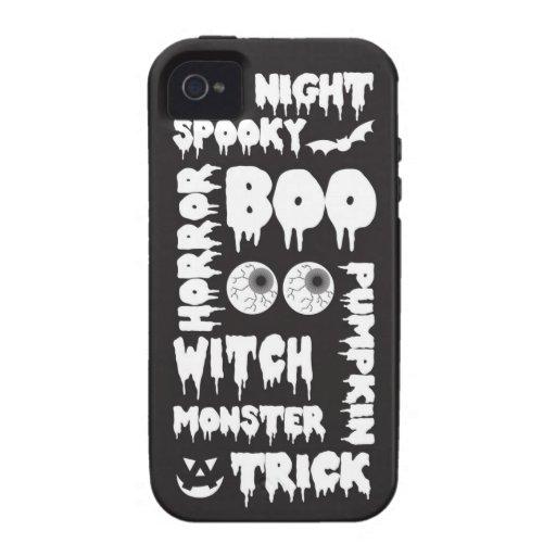Halloween redacta la caja de la casamata iPhone 4 fundas