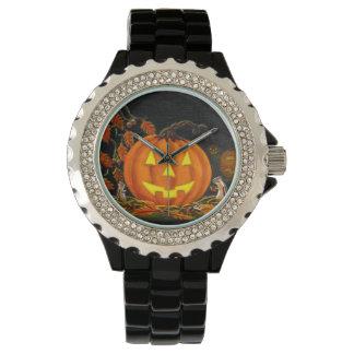 Halloween, reloj, Jack-O-Linternas, chipmunks, Relojes De Pulsera