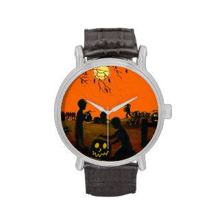 Halloween, relojes, niños, Jack-O-Linternas,