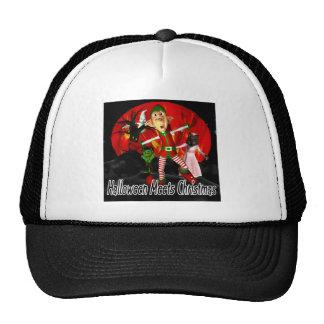 Halloween resuelve el navidad, duende que corre le gorras