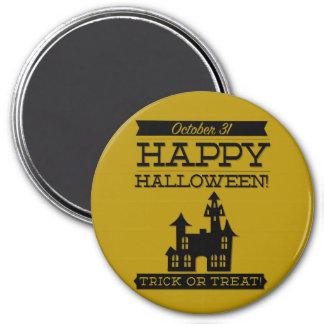 Halloween retro tipográfico imán redondo 7 cm