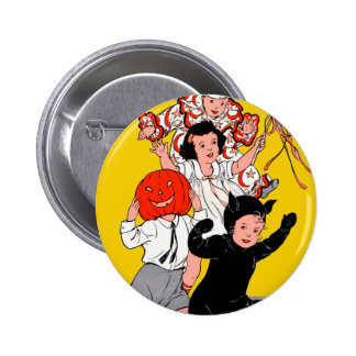 Halloween Retro Vintage Children s Costume Party Pinback Buttons