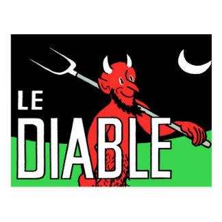 Halloween Retro Vintage Devil Le Diable Postcards