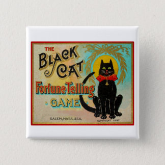 Halloween Retro Vintage Fortune Telling Game Pinback Button
