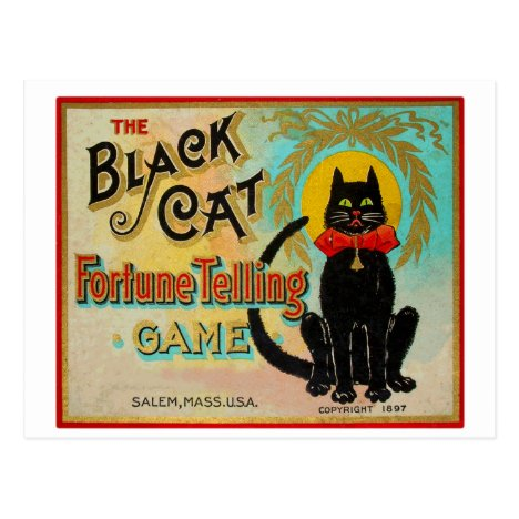 Halloween Retro Vintage Fortune Telling Game Postcard