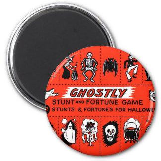 Halloween Retro Vintage Ghostly Stunts Game 2 Inch Round Magnet
