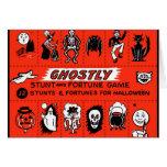 Halloween Retro Vintage Ghostly Stunts Game Greeting Card