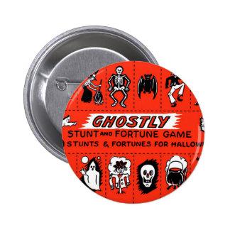 Halloween Retro Vintage Ghostly Stunts Game Pinback Button