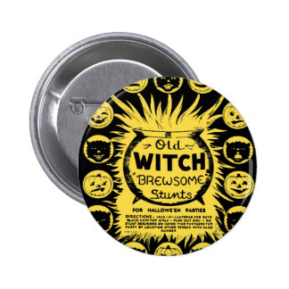 Halloween Retro Vintage Kitsch Brewsome Tricks 2 Inch Round Button