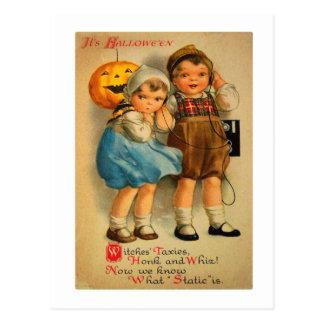 Halloween Retro Vintage Kitsch Cute Kids Postcard