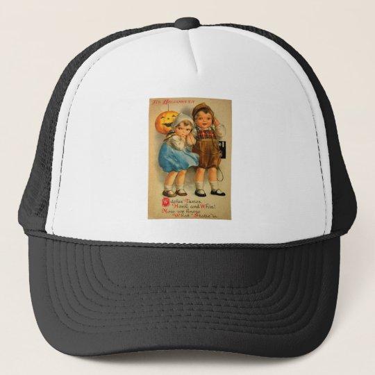 Halloween Retro Vintage Kitsch Cute Kids Trucker Hat