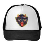 Halloween Retro Vintage Kitsch Devil Satan Lucifer Trucker Hat