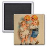 Halloween Retro Vintage Kitsch Jolly Halloween Kid 2 Inch Square Magnet