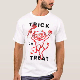 Halloween Retro Vintage Kitsch Little Devil T-Shirt