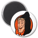 Halloween Retro Vintage Kitsch Old Witch Magnets