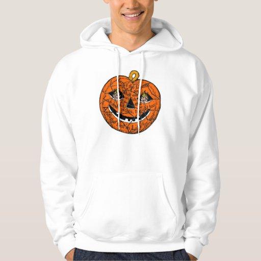 Halloween Retro Vintage Kitsch Pumpkin Gnomes Hoodie