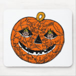 Halloween Retro Vintage Kitsch Pumpkin Gnomes Mouse Pad