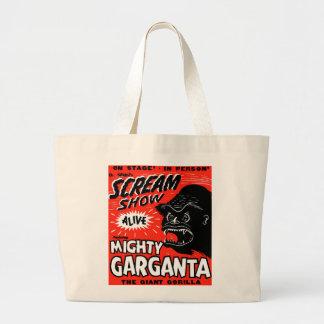 Halloween Retro Vintage Kitsch Scream Show Ape Bag