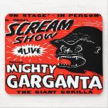 Halloween Retro Vintage Kitsch Scream Show Ape Mouse Pad