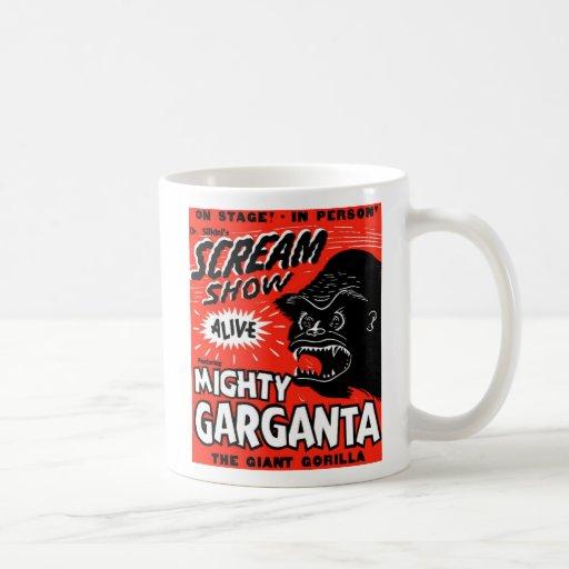 Halloween Retro Vintage Kitsch Scream Show Ape Mugs