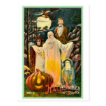Halloween Retro Vintage Kitsch Spooky Card Post Cards